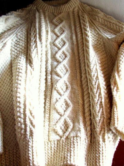 pull irlandais pure laine