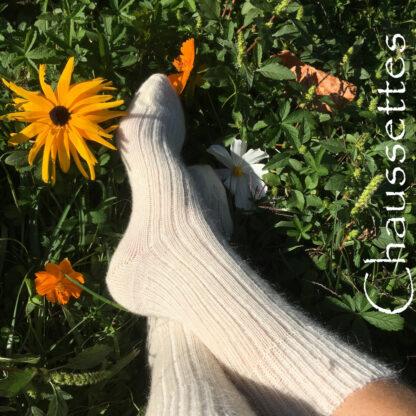 chaussettes en mohair naturelles et confortables