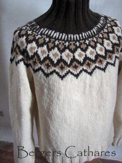 pull islandais pure laine de france