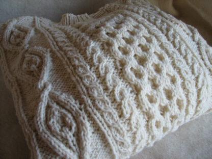 pull irlandais tradition en laine de france