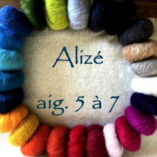 Fil à tricoter mohair et soie de France