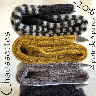 chaussettes très chaudes en mohair français