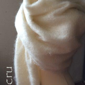 Etole écharpe chale mohair soie de Francechale en mohair écru