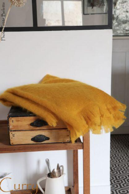 plaid en mohair très chaud en laine locale