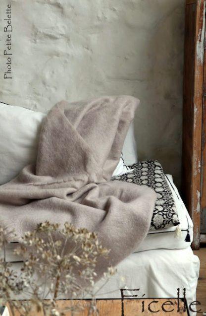 jeté de canapé en mohair de France