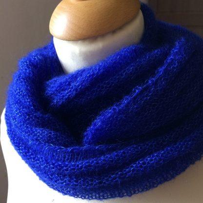 Col snood Frivole tricoté en mohair de France