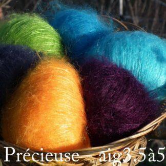 Fil à tricoter mohair et soie