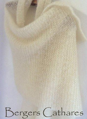 Etole mohair tricotée