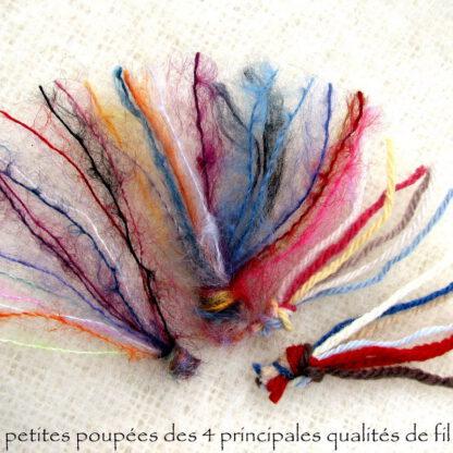 Echantillons des fils à tricoter