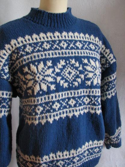 pull Norvégien en pure laine de france