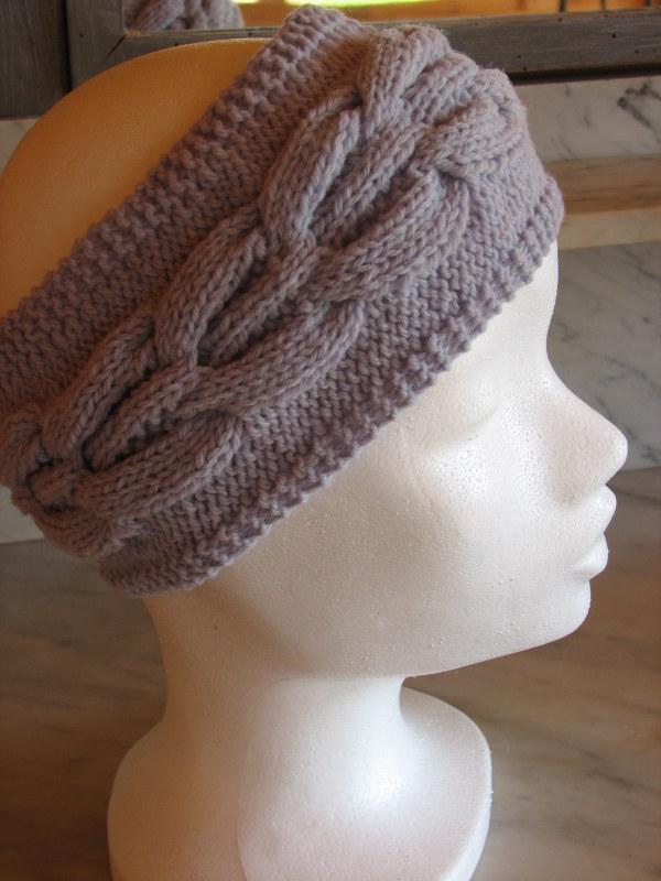bandeau laine kit à tricoter