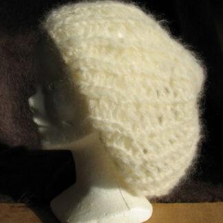 bonnet beret en mohair extra large