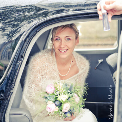 Chale mohair pour mariée