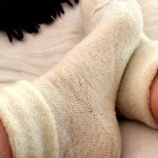 Chaussettes de lit en mohair naturel de France