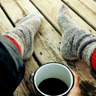 Chaussettes mohair et laine