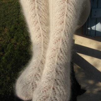 chaussettes mohair tricotées à la main