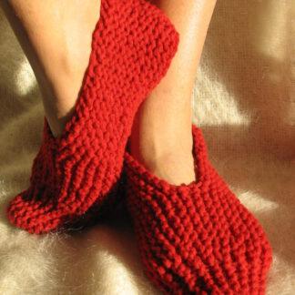 chaussons de laine à tricoter