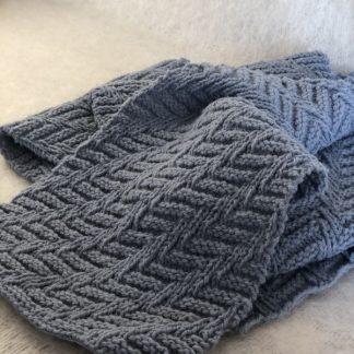 echarpe tricotée en pure laine de France