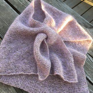 écharpe-chale en mohair et laine