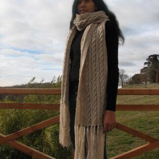 Echarpe longue en pure laine