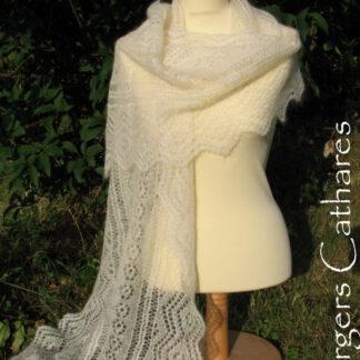 Etole mohair et soie tricotée à la main