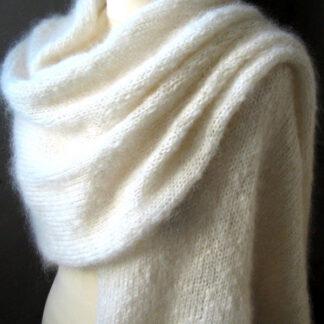 Etole écharpe chale mohair soie de France