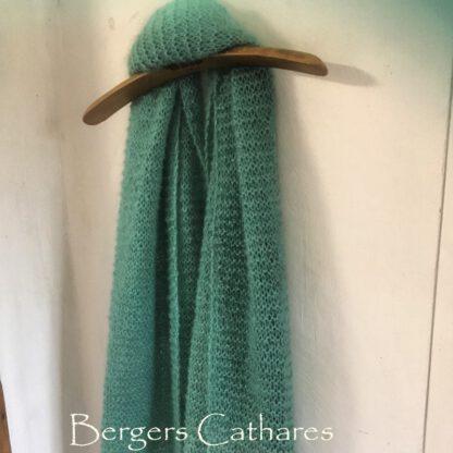 Etole écharpe chale mohair soie de France tricotée