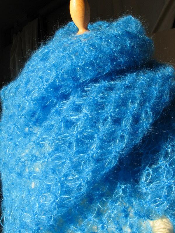 Etole mohair au crochet