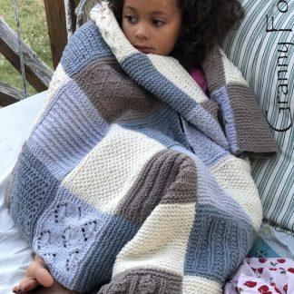 Le plaid tricoté Granny Folie's