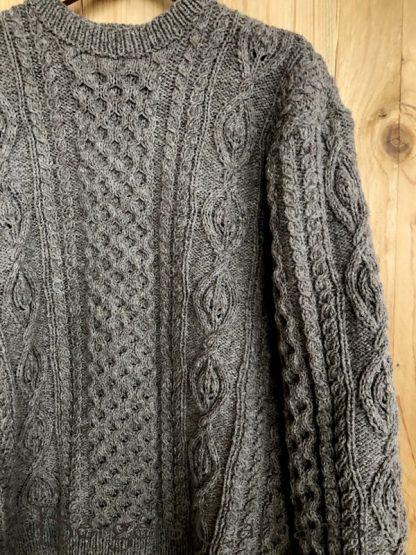pull traditionnel irlandais en pure laine