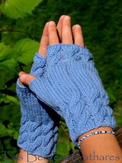 mitaines en laine à tricoter