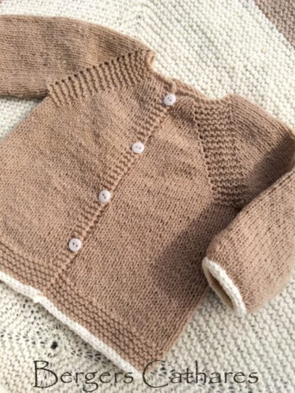 Trousseau de naissance en laine naturelle
