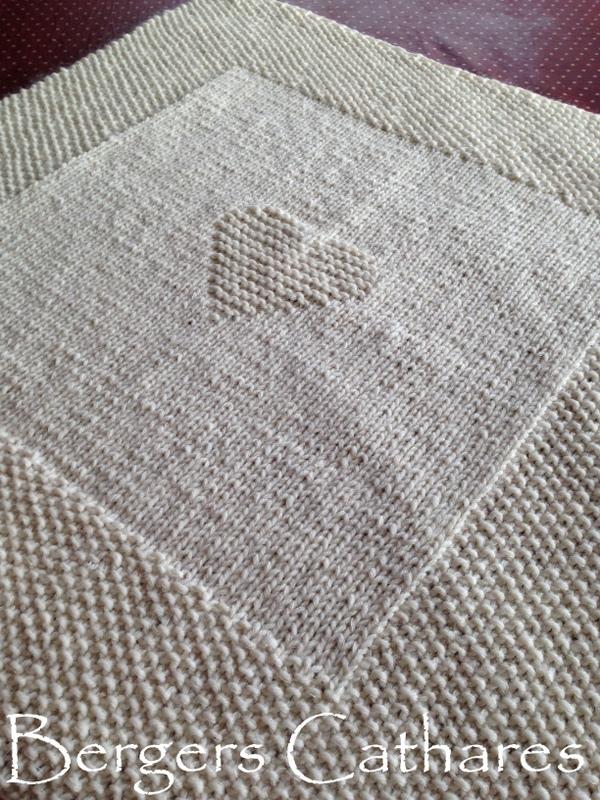 couverture bébé pure laine tricoté