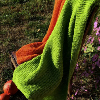 plaid pure laine tricoté