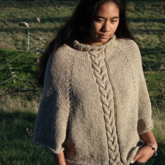 Poncho pure laine