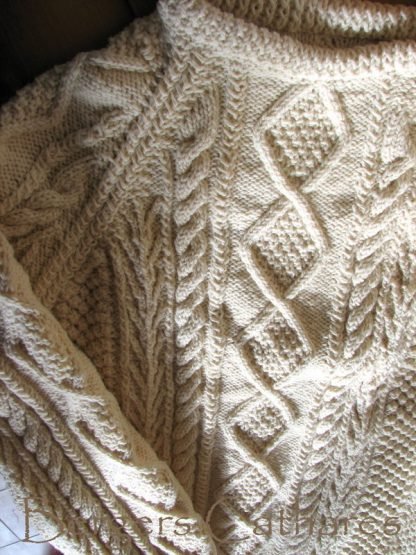 patron tricot pull irlandais laine de France