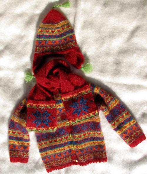 veste mohair enfant