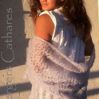 chale tricoté à la main en mohair