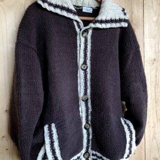 veste tricotée à la main 100% mohair de France