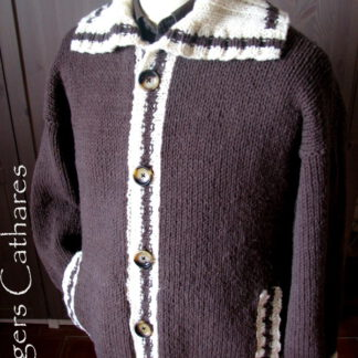 veste tricotée à la main pour homme