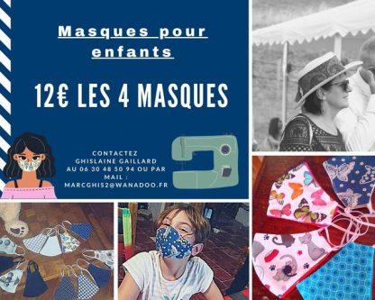 masques tissus pour enfants