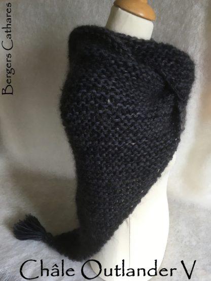 chale à tricoter de la série outlander