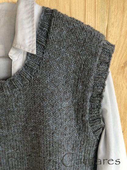 kit à tricoter un gilet sans manches