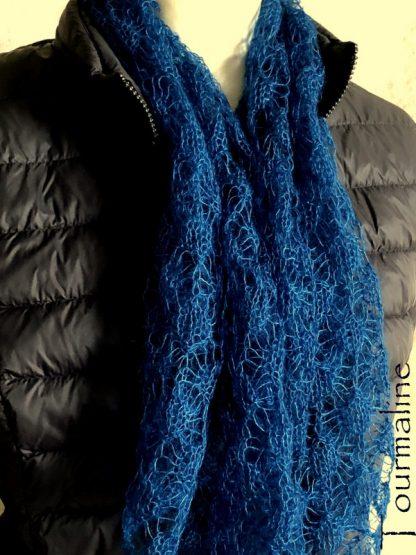 Echarpe tricotée en mohair de France