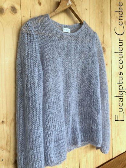 Pull mohair de Frande tricoté à la main