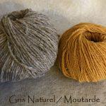 Gris-naturel/Moutarde
