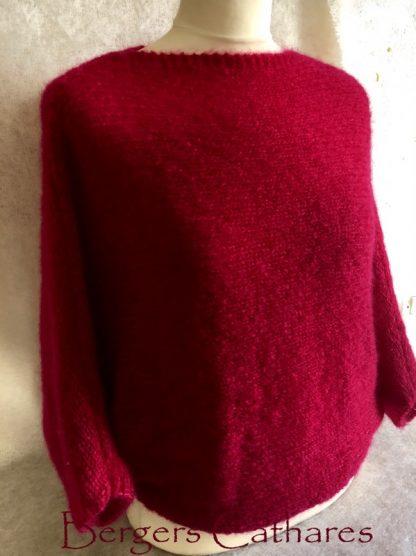 pullover chauve souris en mohair et soie