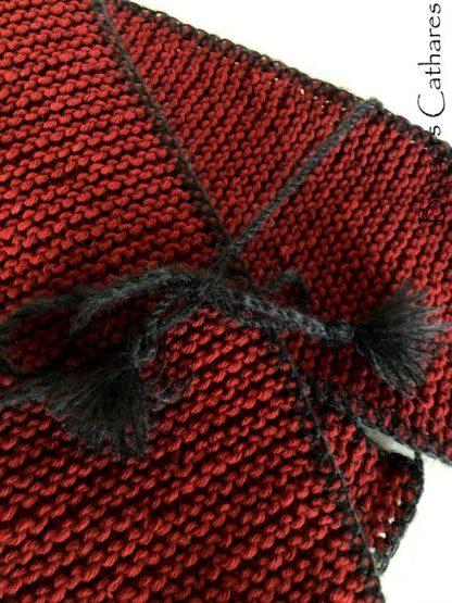 chale tricoté en pure laine de France pour Outlander