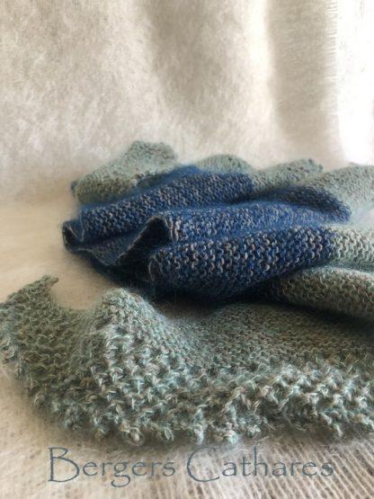 chale tricoté mohair et laine de France